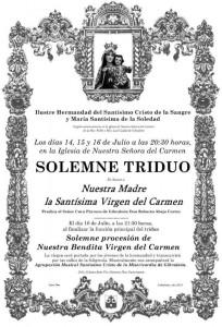 Cartel de la Festividad de la Virgen del Carmen